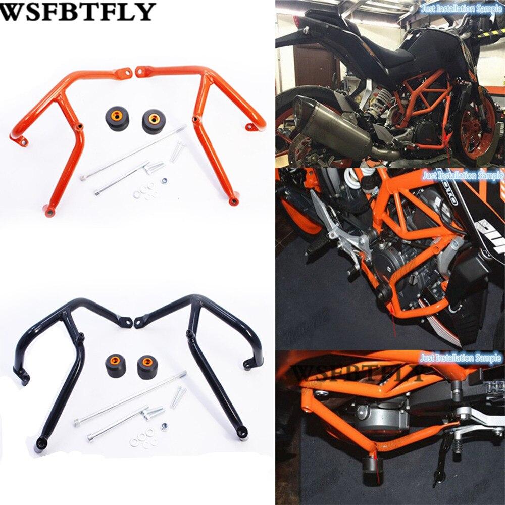 New Motorcycle Crash Bars Frame Protector Protection Guard Falling Protection For KTM KTM DUKE 200 Orange & Black