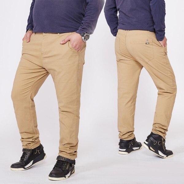 Топ размера плюс 6xl 46 44 48 мужские большие хип-хоп брюки хлопок Новые Большие размеры мужские повседневные брюки - Цвет: khaki 1