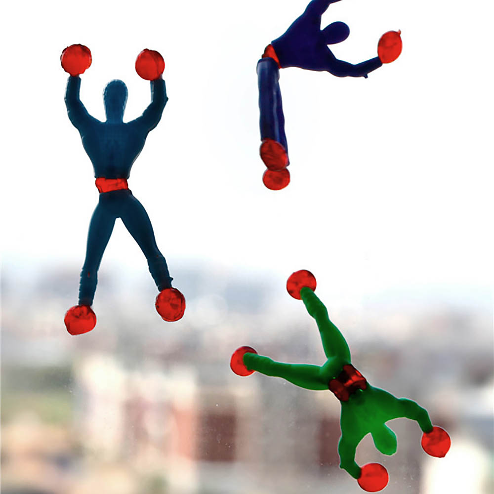 1cs Novelty Sticky Wall Climbing Flip Rolling Men Climber Children Kids Toy Color Random