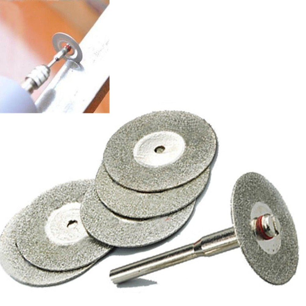 5Pcs 22mm Mini Drill Rotary Tool Accessories Cutting Disc Diamond Grinding Wheel Disc Circular Saw Blade Abrasive