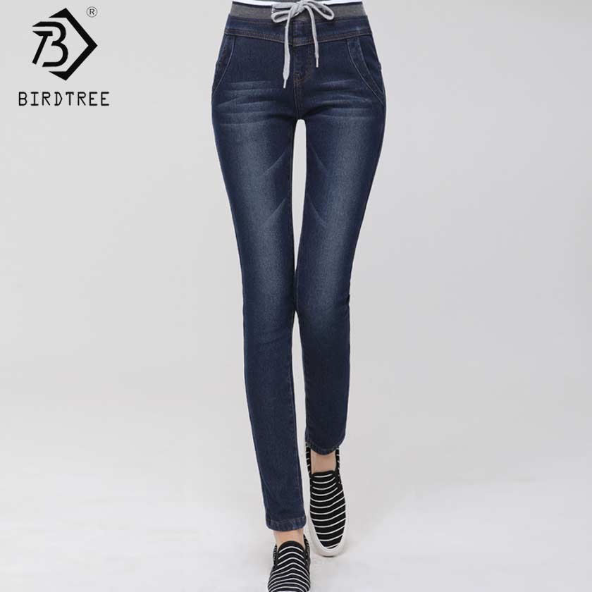 Fashion Winter Thicken Fleeces Skinny Jeans Woman Warm High Waist Jeans Pencil Trousers Femme Slim Elastic Denim Pants B7O828AW womens skinny jeans black blue colors 2017 new style vaqueros rotos mujer high elastic denim pencil pants full length trousers