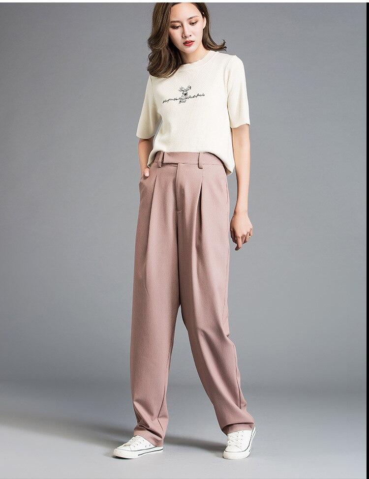 2019 New Women Fashion Casual Long Cotton Pants High Quality Ladies Causal Pants