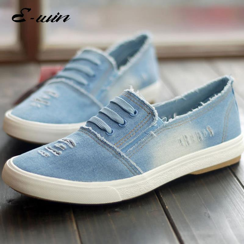 5c131f470c0 2016 Men Women Casual Canvas Summer Canvas Shoes loafers Lazy Shoes Slip On  Denim Jeans Casual Flats Man Fashion Flats Zapatos-in Men s Vulcanize Shoes  from ...