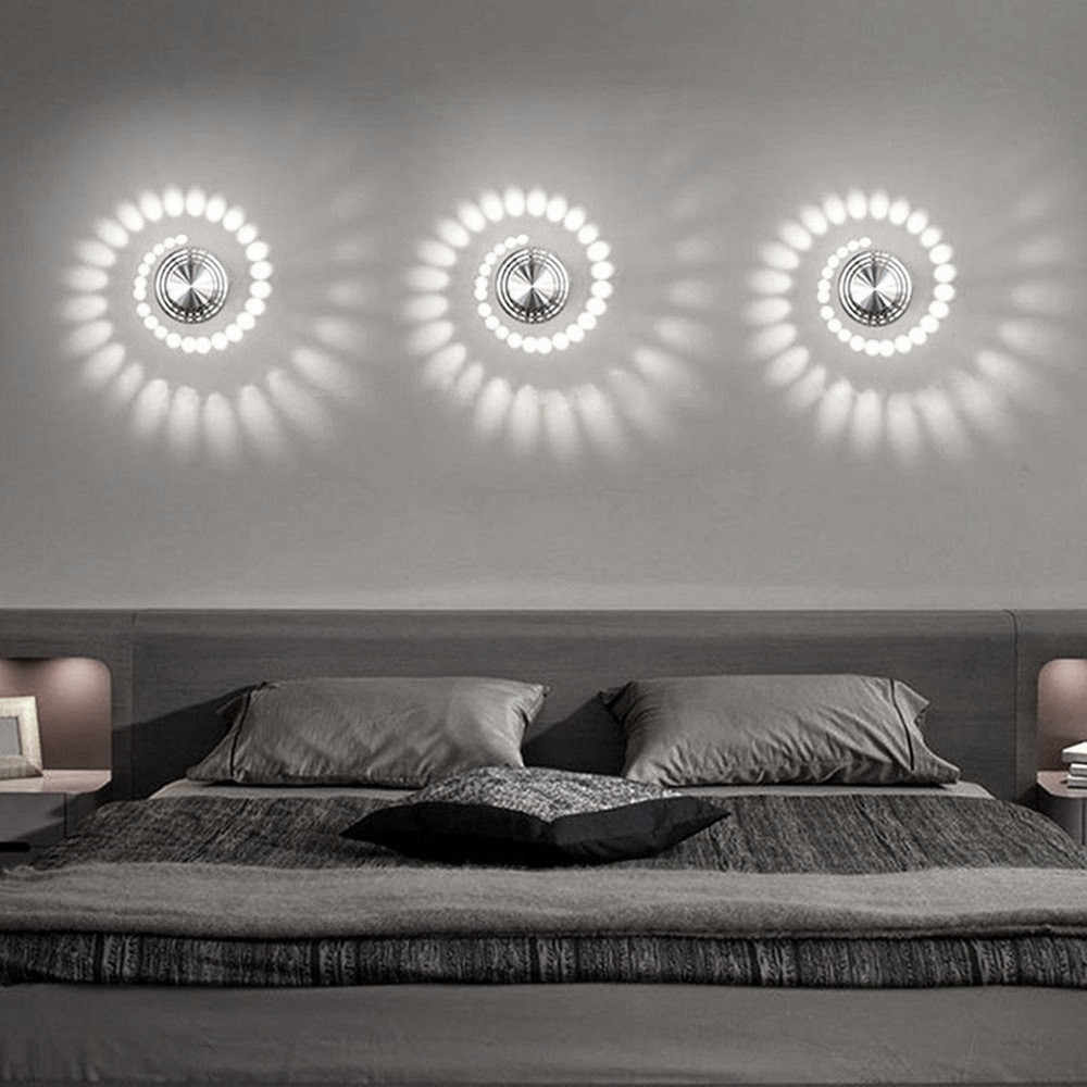 New Design Light Wall Sticker Spiral Hole Wall Lamp Surface Install LED Light Luminaire Light Home Decoration#X
