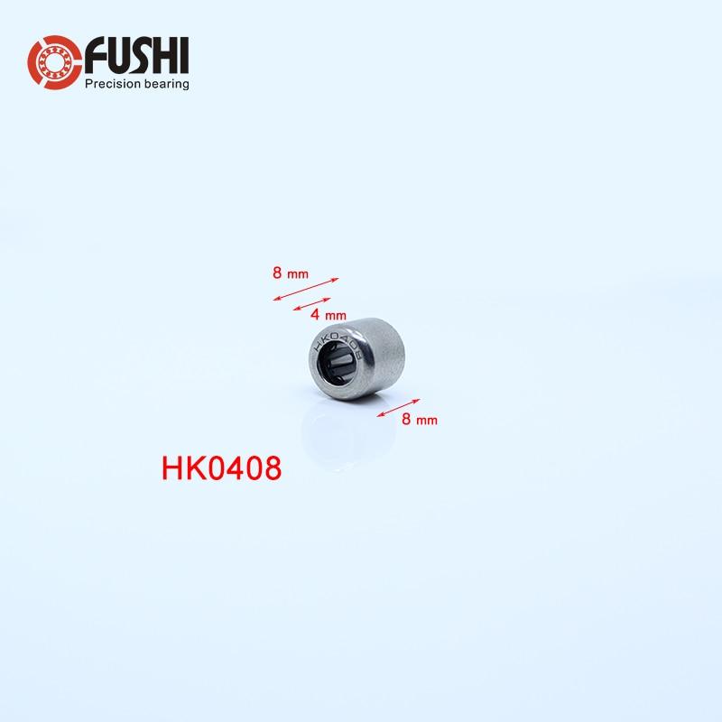 10 PCS HK0408 4*8*8 4x8x8 mm Metal Needle Roller Bearing Bearings