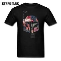 T Shirt Alışveriş Mini Boba Fett Çiçek Star Wars Homme yuvarlak Boyun Kısa Kollu Tshirs Sıcak Satış Erkekler T Olun gömlek