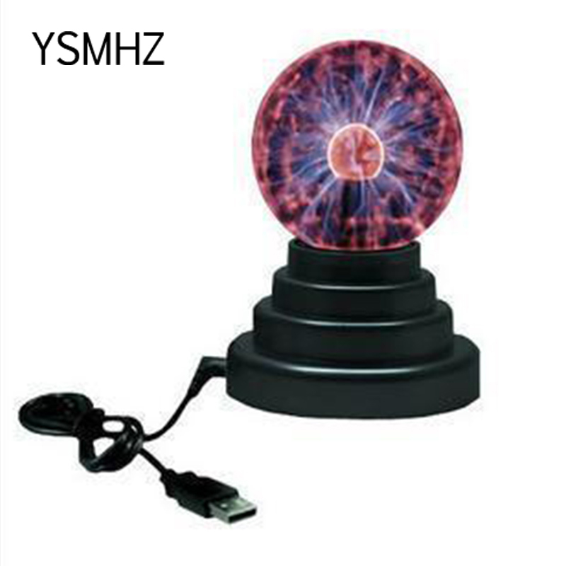 YSMHZ Magic Plasma Ball Room Party Christmas Decor Electrostatic Sphere Light Gift Lightning Crystal Luminaria Touch USB Power ...