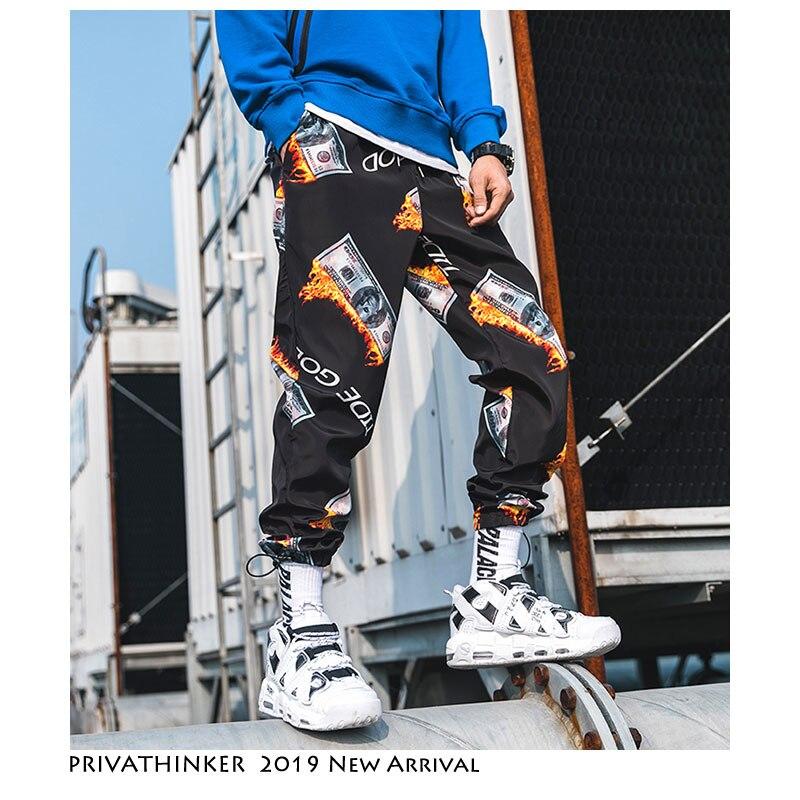 a5359f81c53 Privathinker человек Япония уличная пот брюки 2019 мужские хип-хоп черный  пот брюки Мужской Винтаж