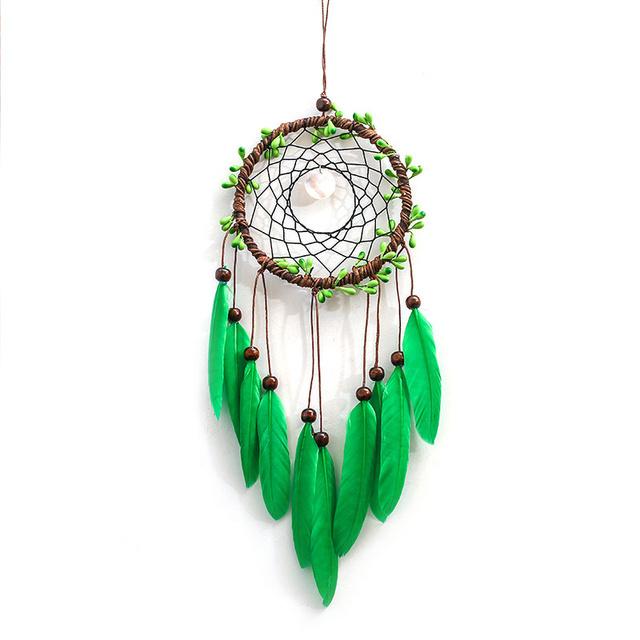 Green Feather Dream Catcher