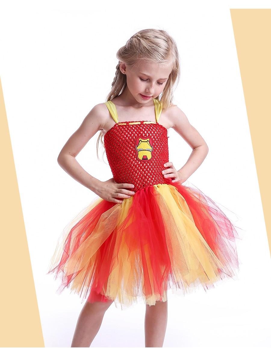 Iron Man Girls Tutu Dress Cartoon Baby Gril Halloween Cosplay Party Dress Handmade Fancy Superhero Inspired (10)