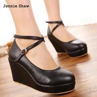 Новинка модная обувь на высоком каблуке с ремешками крест-накрест дамские большие размеры 40 41 42 обувь на маленькой танкетке 30 31 32 33
