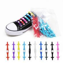 12pcs/lot Rubber Elastic Convenient Shoelaces Shark Lazy Silica Gel Bound Prevent Students No-tie Sports LACES
