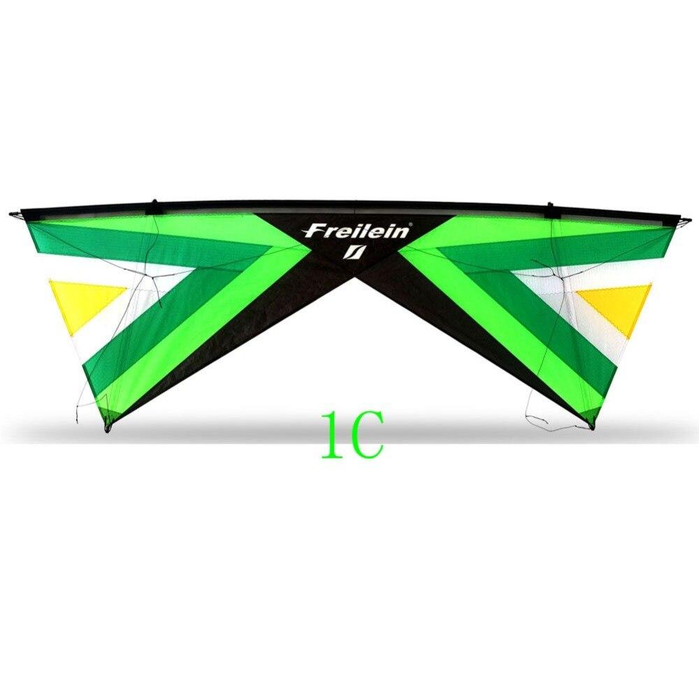2.42m Quad ligne cascadeur cerf-volant facile à voler professionnel de plein air Sport cerf-volant volant pour spectacles Festival 16 couleurs à choisir