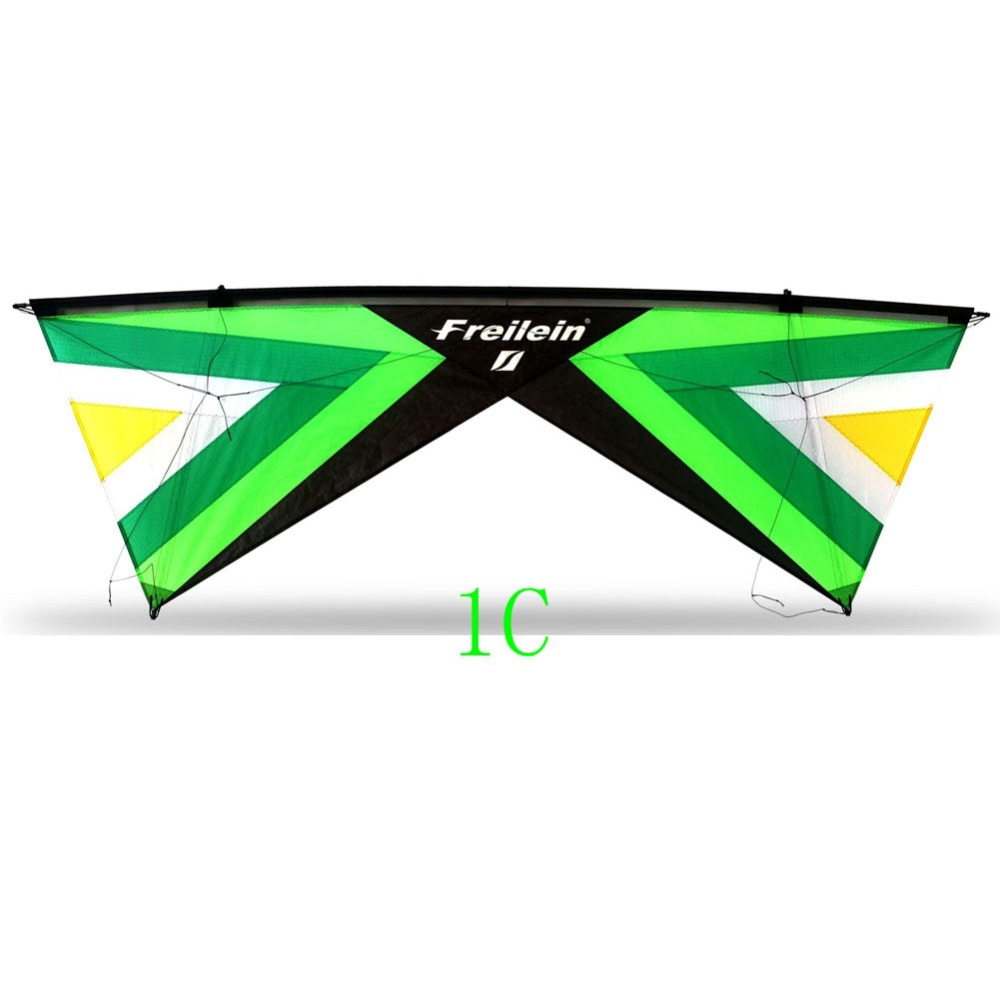 2.42m Qual Line Stunt Kite Easy To Fly Professional Outdoor Sport Kite Flying For Shows Festival 16 Colors To Choose цена