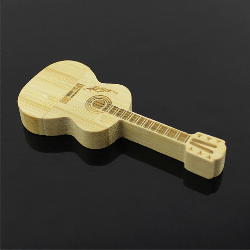 wholesale alibaba guitar-shaped pen drive wooden guitars model usb flash drive memory Stick pendrive 4GB 8G 16GB 32GB gift