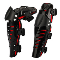 High Quality Motorcycle Racing Motocross Rider Knee Pads Kneepad Protector Guard Mechanical Protective Gear Black Red