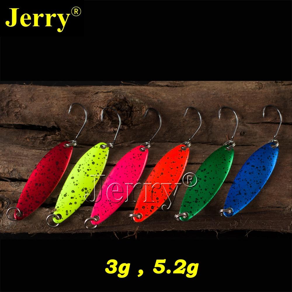 Jerry 6pcs 3g 5g pesca attrezzatura da pesca cucchiaio di trota cucchiai di pesca d'acqua dolce spinner esche esche metalliche