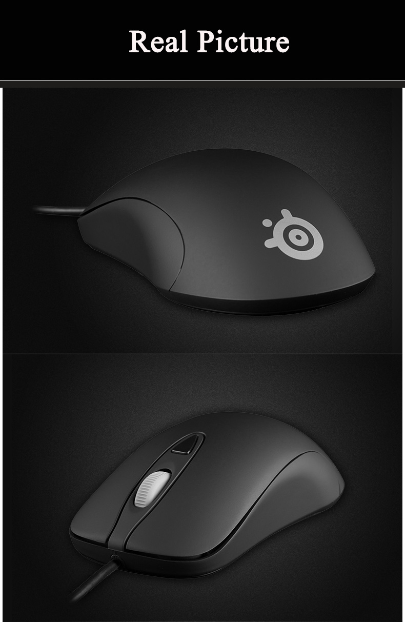 3a2f415ef18 New STEELSERIES KINZU V3 Optical Gaming Performance 4 Buttons Mouse Black.  -5 59420278N3e1138ef h ...