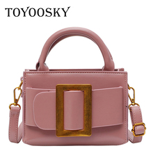 TOYOOSKY 2019 New Fashion Women Leather Handbags Belt Buckle Shoulder Bag Small Flap Crossbody Bags for Messenger