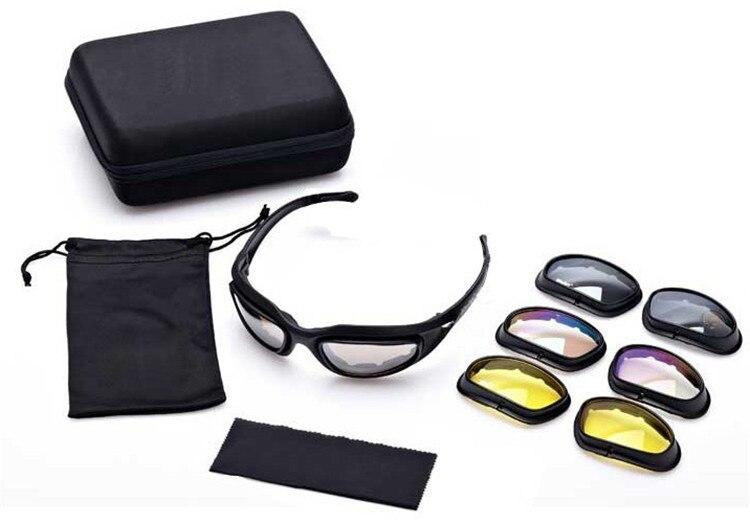 b048af609dd02 Tático Deserto 4 Lentes Polarizadas Óculos De Sol C5 Óculos de Caça À Prova  D  Água Ao Ar Livre Esportes Eyewear UV400 Óculos de Airsoft