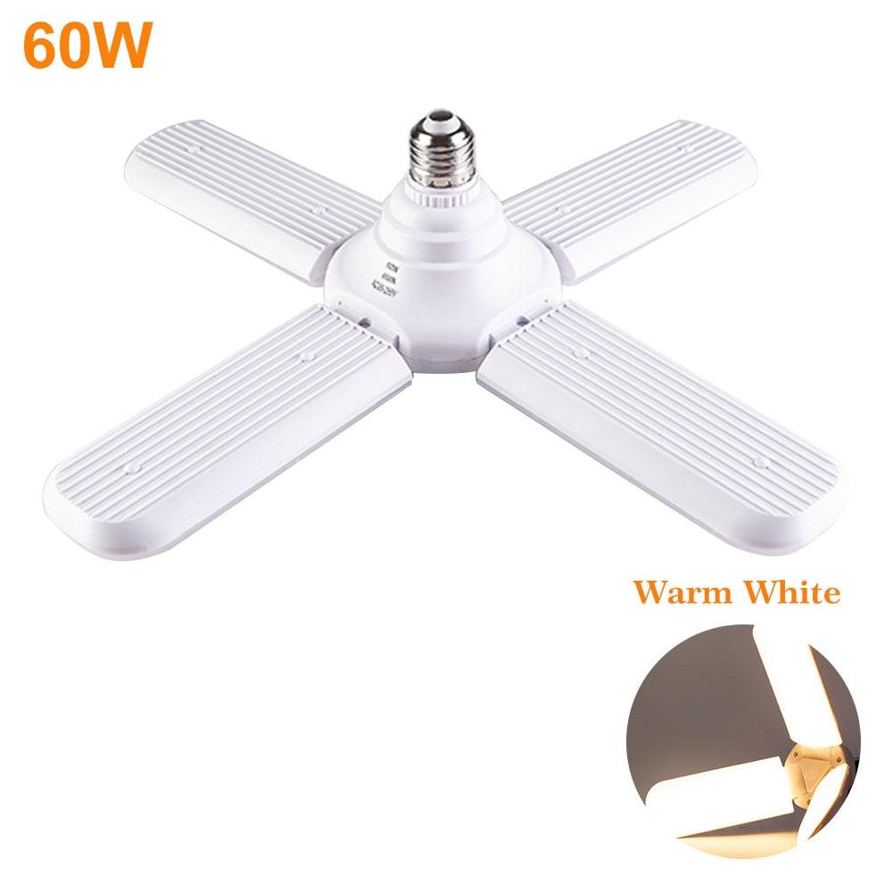 Lâmpada led casa multi uso de poupança energia fácil instalar ajustável branco pc super brilhante ventilador lâmina e27 luz de teto durável dobrável