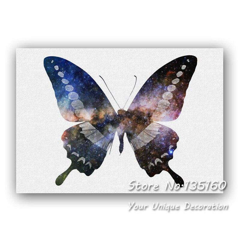 Abstrakte Bunte Schmetterling Bild Lila Blau Foto Malerei Wand Leinwand  Kunst Dekor Hause Tier Silhouette Vintage Gemälde In Abstrakte Bunte  Schmetterling ...