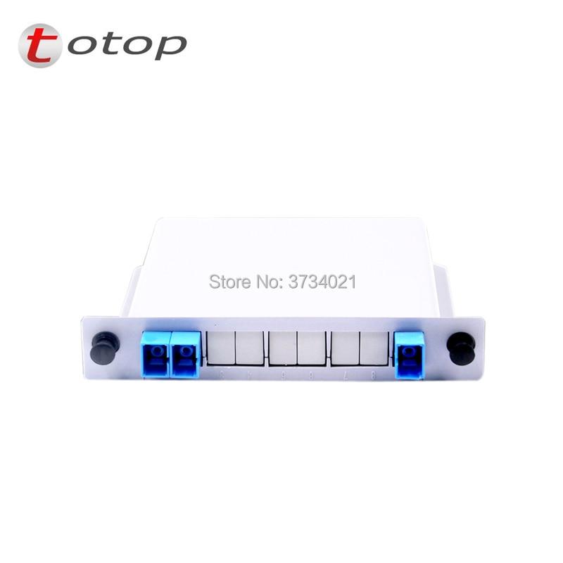 FREE SHIPPING 1x2 Splitter Fiber Optical, PLC Splitter SC/UPC 1x2 LGX Box Cassette Card Inserting PLC splitter Module