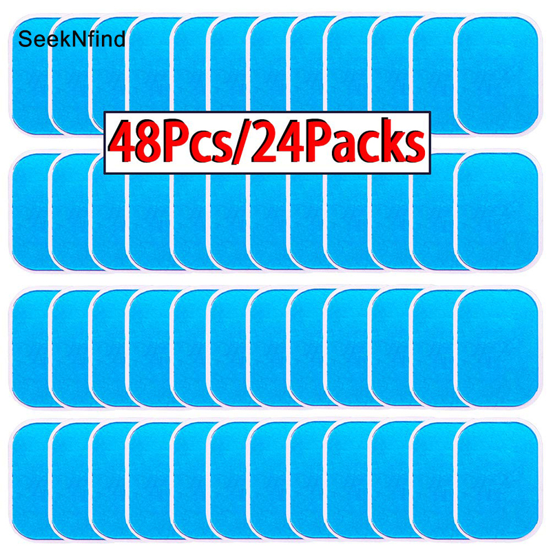 48Pcs Gel Pads For EMS Abdominal ABS Trainer Weight Loss Hip Muscle Stimulator Exerciser Replacement Massager Gel Patch
