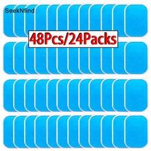 Almofadas gel para treinador abdominal ems, 48 unidades, perda de peso, estimulador muscular, exercitador, substituição, massageador, patch em gel