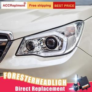 Image 3 - 2 adet LED farlar Subaru Forester 2014 2018 için led araba ışıkları melek gözler xenon HID kiti sis farları LED gündüz farları