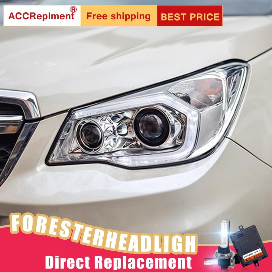 2Pcs Faróis de LED Para Subaru Forester 2014 2018 luzes do carro levou Angel eyes KIT xenon HID faróis de nevoeiro LED de Luzes Diurnas - 3