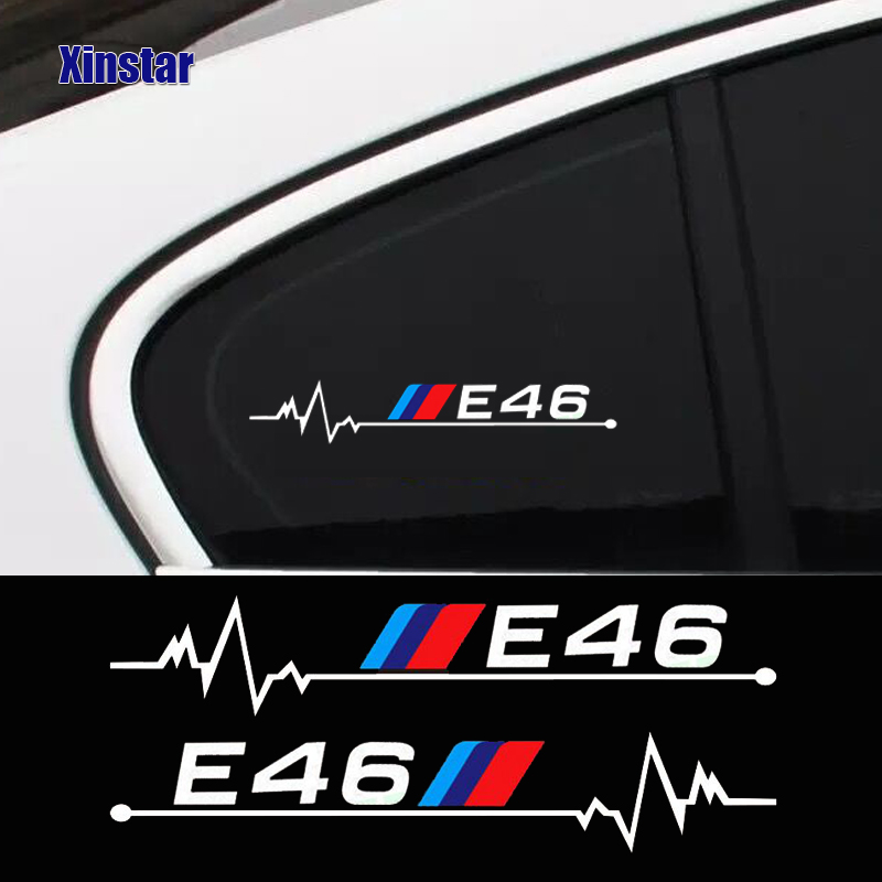 BMW e46 is in my Blood CAR window sticker decal graphic M3 heartbeat heart love