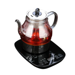 Electric kettle Brew tea - scented electric Fully automatic thickened glass steam black