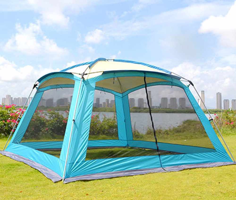 Ultralarge 5-8 Person 365*365*220CM Large Gazebo Party Camping Tent Beach Tent Large Awning outdoor camping hiking automatic camping tent 4person double layer family tent sun shelter gazebo beach tent awning tourist tent