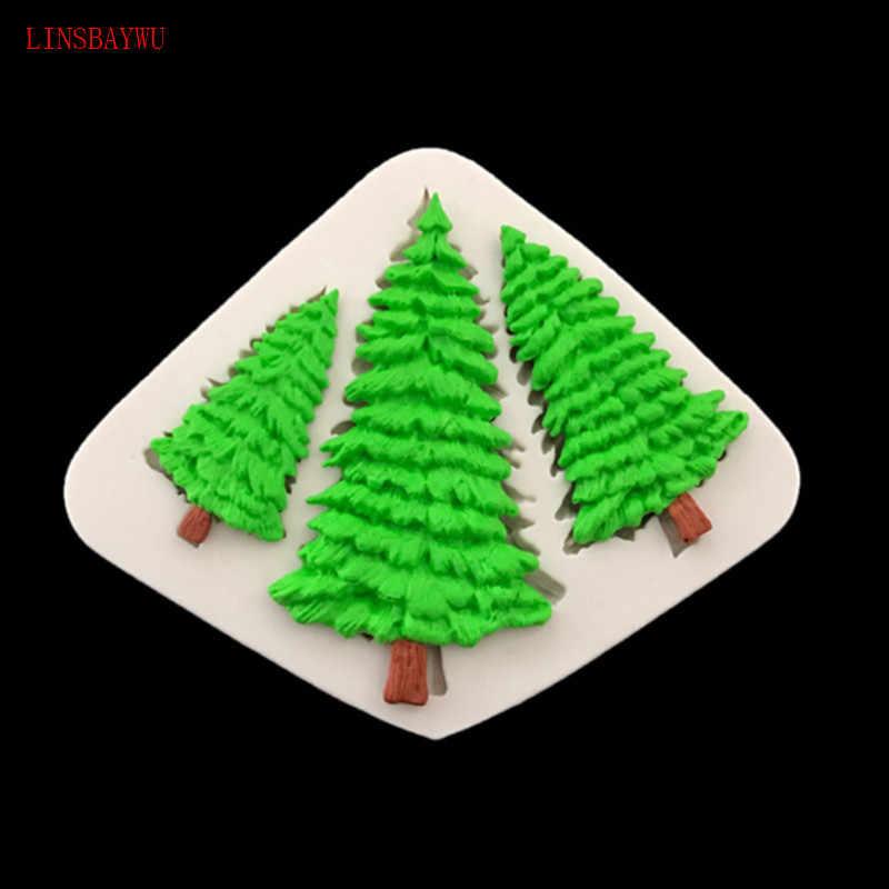 Помадка торт Силиконовая форма Рождественская елка лист форма для шоколадного печенья DIY кухня украшение торта, выпечки инструмент форма для мыла