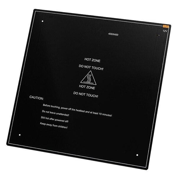 Новый 1 шт. 12 В 180 Вт 400*400*3 мм Термальность Отопление кровать рассадником для 3D-принтеры нагрева аксессуары