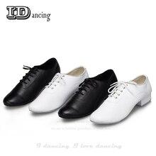 I dancing/мужские туфли для латинских танцев из натуральной кожи, туфли для бальных танцев, Новое поступление, туфли на низком каблуке 2,5 см вечерние Большие размеры, вечерние туфли на квадратном каблуке