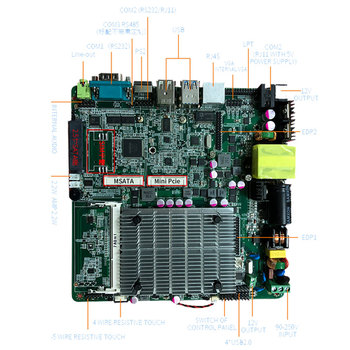 Low Cost Intel Celeron J1900 Quad Core Motherboard With SIM Card Slot For Automatic Calling Distributor