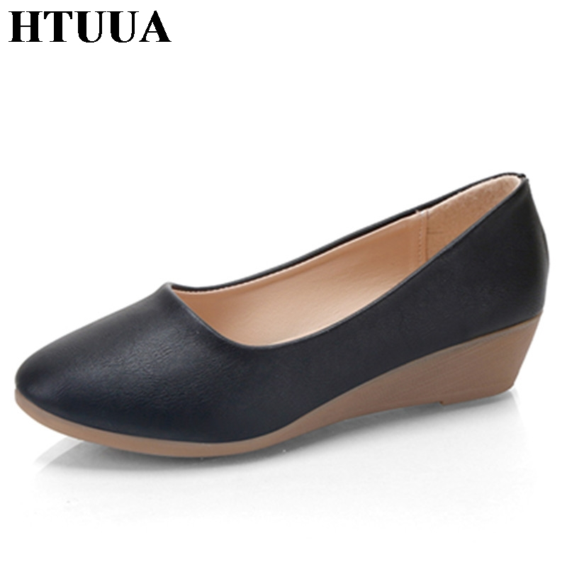 HTUUA Fashion 2017 High Heels Wedges Shoes Women Spring ...