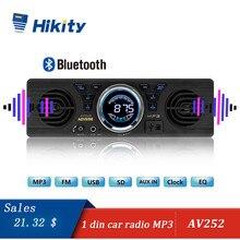 Hikity auto radio AV252B 12 V Bluetooth 2.1 + EDR Elettronica Del Veicolo MP3 Audio Player Car Stereo Radio FM con USB/Porta Carta di TF