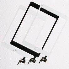 10 шт./лот, хорошее качество, для iPad mini 1/2 mini 3, сенсорная панель в сборе с кнопкой «домой» + соединитель IC