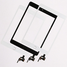 10 stks/partij Goede Kwaliteit Voor iPad mini 1/2 mini 3 Touch Screen Assembly Panel Met Home Knop + IC Connector