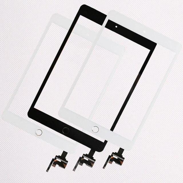 10 teile/los Gute Qualität Für iPad mini 1/2 mini 3 Touch Screen Panel Mit Home Button + IC Stecker