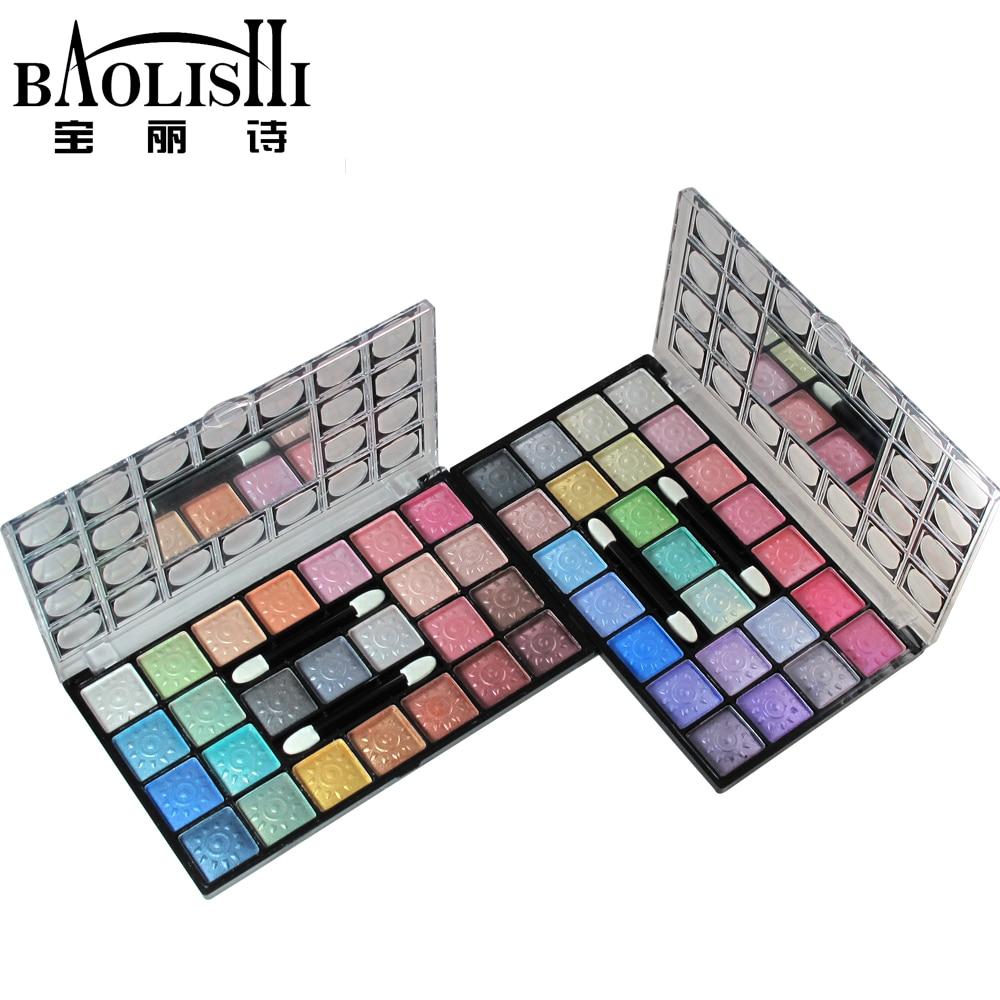 baolishi 25 اللون أفضل وميض عارية سموكي المهنية للماء عينيه لوحة طبيعية ماتي مستحضرات التجميل العلامة التجارية الحضرية