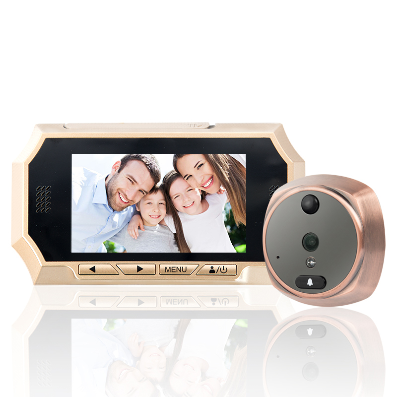4.3 polegada LCD Do Telefone Da Porta de 160 Graus HD Espectador Olho Mágico Digital de Visão Noturna Câmera do IR Da Cor Automática de Vídeo Campainha Da Porta anel