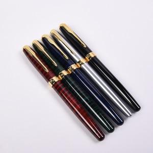 Image 1 - 5 Pz/lotto Baoer 388 Golden Arrow Clip Della Penna Roller 5 di Colore Diverso Penne A Sfera Roller Luxury Penna A Sfera per il Natale regalo