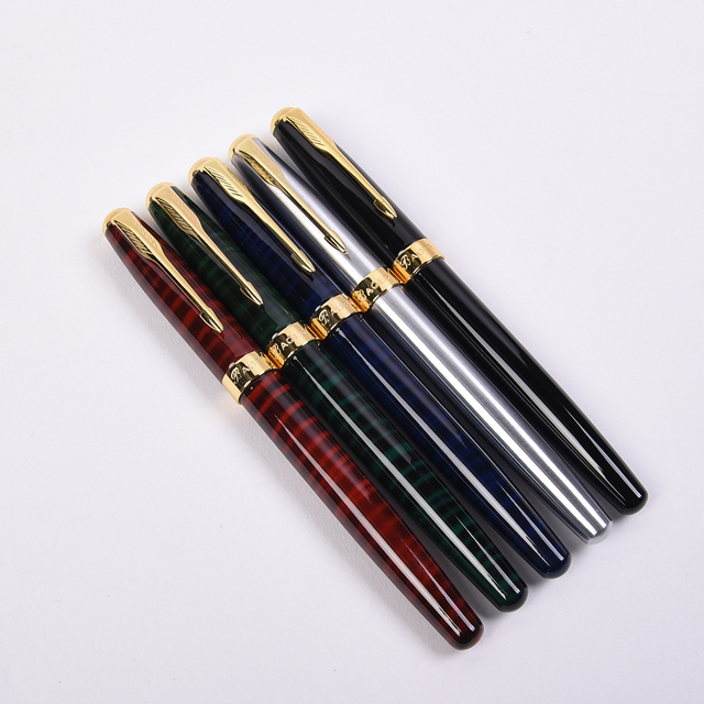 5 Pz/lotto Baoer 388 Golden Arrow Clip Della Penna Roller 5 di Colore Diverso Penne A Sfera Roller Luxury Penna A Sfera per il Natale regalo