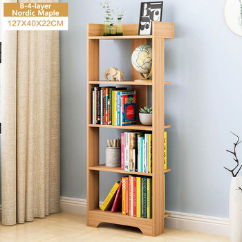 Minimalist modern bookshelf landing bookshelf Creative Living Room Shelf Lattice Cabinet Table storage rack Home Furniture shelf