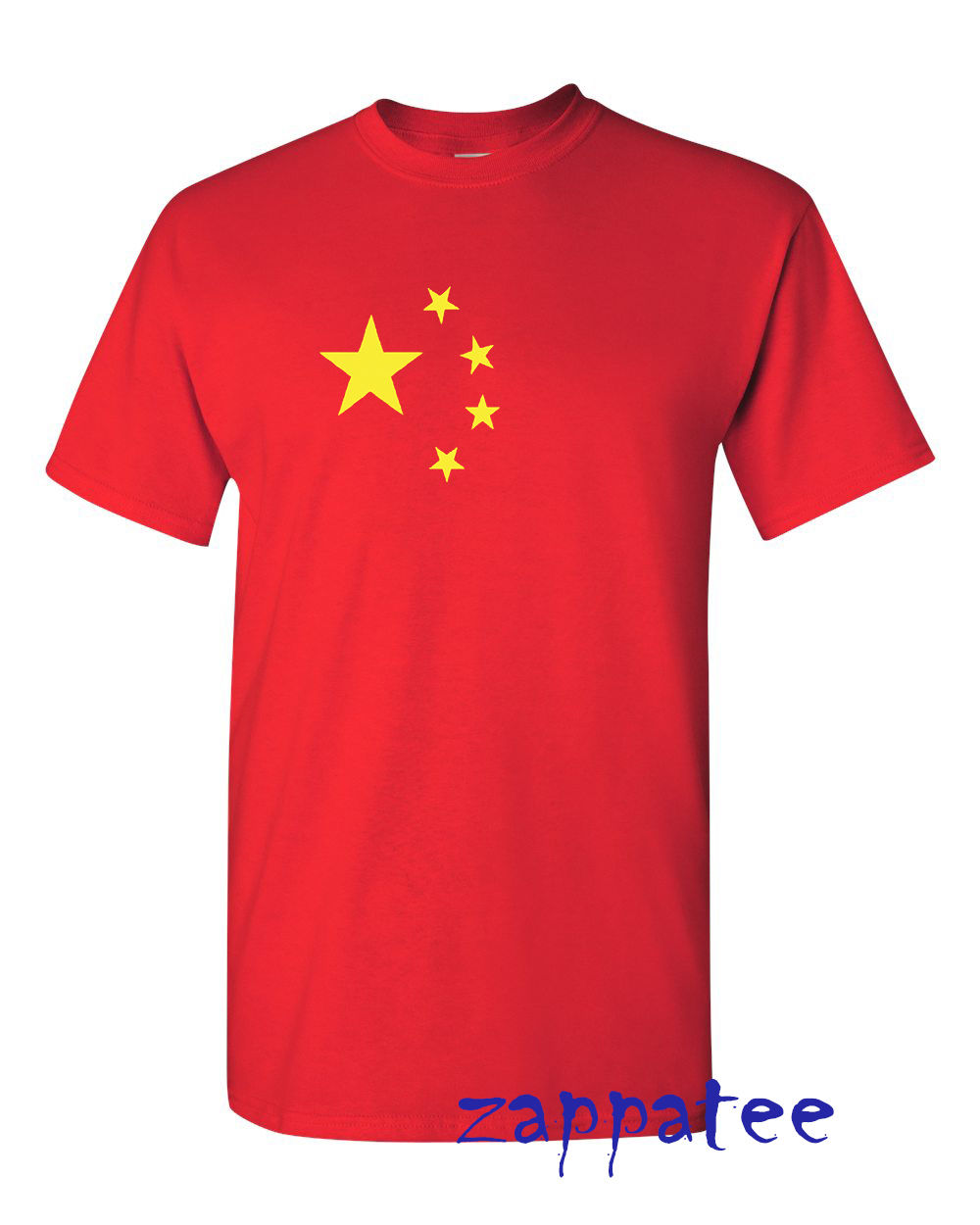 China T Shirt Red with yellow stars as on the Peoples Republic of flag New Shirts Funny Tops Tee Unisex