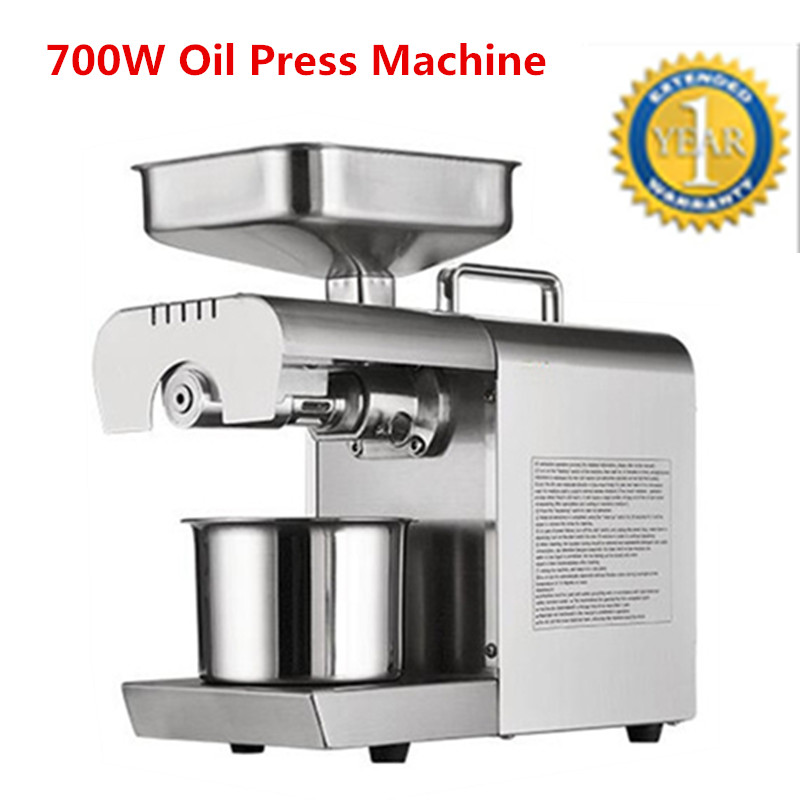 Stainless Steel Oil Press Machine Peanut Oil Presser For Sesame/Melon Seeds/Rapeseed/Flax/Walnut Oil Presser feeding value of sesame oil cake for broilers